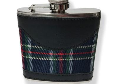 HFSKTAR Tartan (Blue)  Hip Flask In Gift Box 6oz   (3)